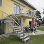 Treppenanlage mit Geländer